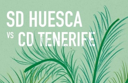 Cartel SD Huesca vs CD Tenerife